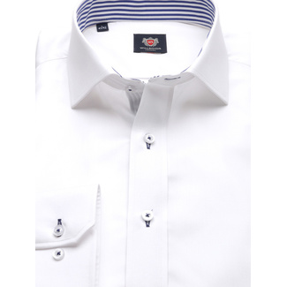 Slim fit London shirt in white color (height 188-194) 10172, Willsoor