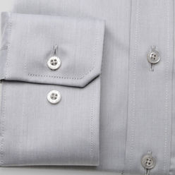 London slim fit shirt in light grey (height 188-194) 10180, Willsoor
