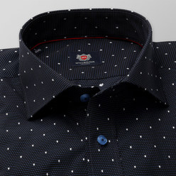 London shirt in black with pattern (height 176-182) 10187