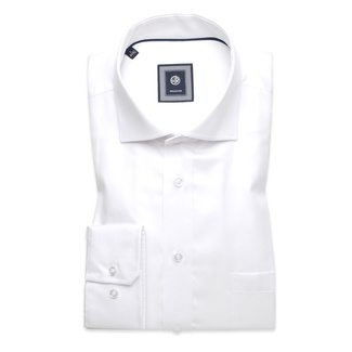 London shirt in white with smooth pattern (height 176-182 a 188-194) 10215, Willsoor