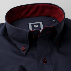 Classic shirt with claret contrast elements (height 176-182 and 188-194) 10218, Willsoor