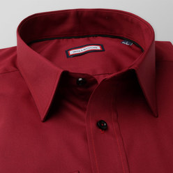 Classic shirt in claret (height 176-182) 10220