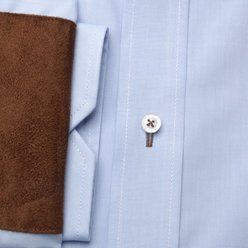 Slim Fit shirt with brown elements on elbows (all sizes)10242