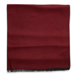Claret scarf with herringbone pattern 10253, Willsoor