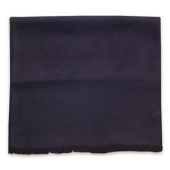 Dark blue scarf with herringbone pattern 10254, Willsoor