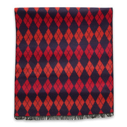 Scarf with red check pattern  10256, Willsoor