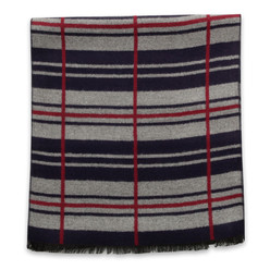 Scarf with striped and checkered pattern 10258, Willsoor