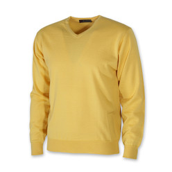 Men's pullover in yellow 10273