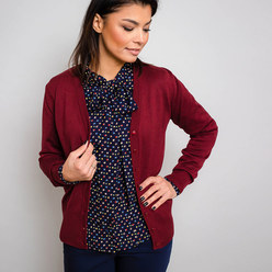 Women's cardigan in claret Willsoor 10278