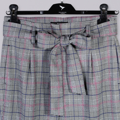 Plaid trousers with tied waist 10279, Willsoor