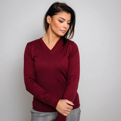 Women's jumper in claret 10281