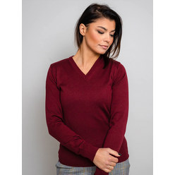 Women's jumper in claret 10281, Willsoor