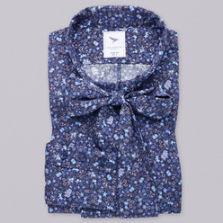 Women's shirt with floral pattern and a bow 10286