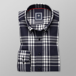 London shirt with white checked pattern (height 198-204) 10302, Willsoor