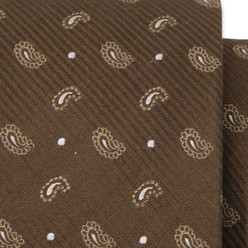 Silk tie with paisley pattern 10308, Willsoor