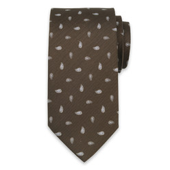 Silk tie with paisley pattern10314, Willsoor