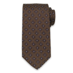 Silk tie with floral pattern 10320, Willsoor