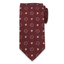 Silk tie in claret 10328, Willsoor