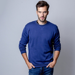 Men's pullover in dark blue 10343, Willsoor