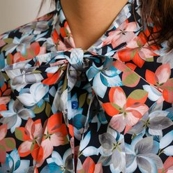 Women's shirt with colorful floral pattern 10344
