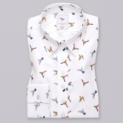 Women's shirt with hummingbirds print  10346, Willsoor