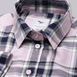 Women's shirt in pink with check pattern 10378