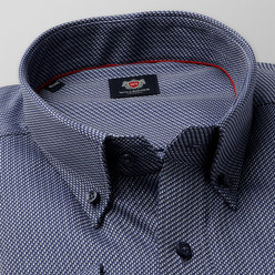 London shirt in dark blue with fine pattern (height 176-182 and 188-194) 10389, Willsoor