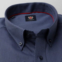 London shirt with fine blue pattern (height 176-182 and 188-194) 10393, Willsoor