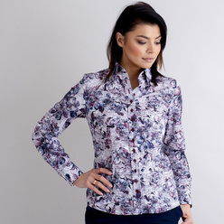 Women's shirt with floral pattern 10403