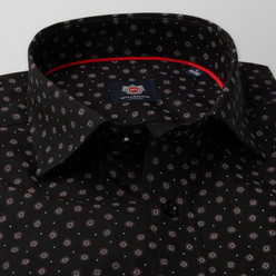 London shirt in black with floral pattern (height 198-204) 10412, Willsoor