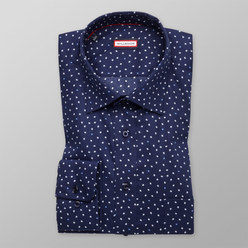 Slim Fit shirt with fine white pattern (height 176-182) 10430