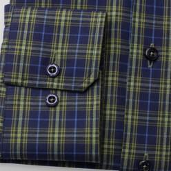 Slim Fit shirt with green check (height 176-182) 10438, Willsoor