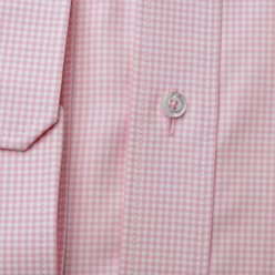 London shirt with pink check pattern (height 176-182) 10444, Willsoor