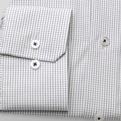 London shirt with black checkered pattern (height 176-182) 10447, Willsoor