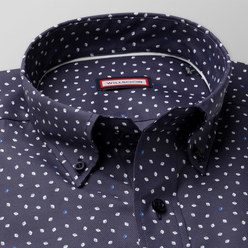 Slim Fit shirt with drops print (height 176-182 and 188-194) 10459