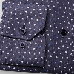 Slim Fit shirt with drops print (height 176-182 and 188-194) 10459, Willsoor