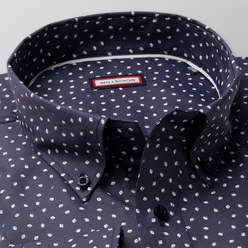 Classic shirt with drops print (height 176-182 a 188-194) 10463, Willsoor