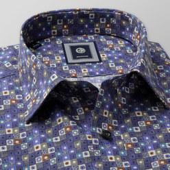 Slim Fit shirt with colourful geometric pattern (height 176-182) 10464, Willsoor