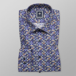Slim Fit shirt with colourful geometric pattern (height 176-182) 10464