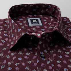 Slim Fit shirt with contrast paisley pattern (height 176-182) 10465