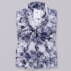 Women's shirt with tied collar 10470