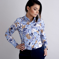Women's shirt with floral pattern 10473