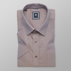 London shirt in light brown with shimmering effect (height 176-182) 10483