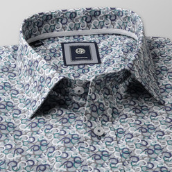 Slim Fit shirt with colorful geometric pattern (height 176-182) 10490, Willsoor