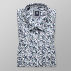 Classic shirt with colorful geometric pattern (height 176-182) 10491, Willsoor