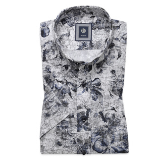 Slim Fit shirt with fine floral pattern (height 176-182) 10492, Willsoor