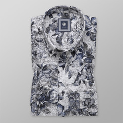 Classic shirt with fine floral pattern  (height 176-182) 10493, Willsoor