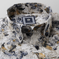 Slim Fit shirt with fine floral pattern (height 176-182) 10494, Willsoor