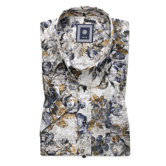 Classic shirt with fine floral pattern (height 176-182) 10495, Willsoor
