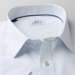 Classic shirt in white with striped pattern (height 176-182) 10502, Willsoor